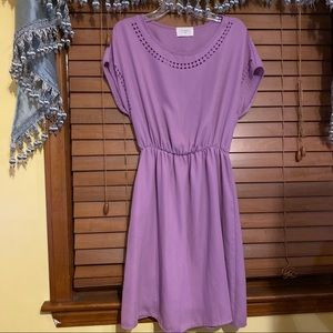 NWOT Everly Purple Cutout Knee Length Dress S